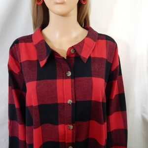 Woman Within Tops - NWOT Woman Within Size 34/36 4X Top Shirt Flannel